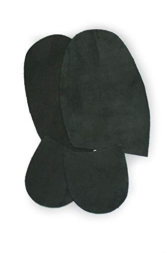 Roch Valley Suelas y Tacones de Gamuza de Repuesto para Zapatos de Baile de Hombre, Hombre, MSONSBOS, Negro, Talla única