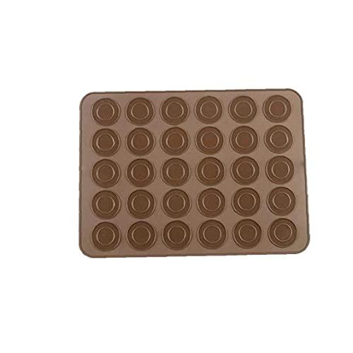 TongICheng Silicona Reutilizable de Silicona Ba1 Paquete Reutilizable de Silicona para Hornear Antiadherente Mats Liner For macarrón/Pasta/Cookies/Bollo/Fabricación del Pan - Random Colorking Mats