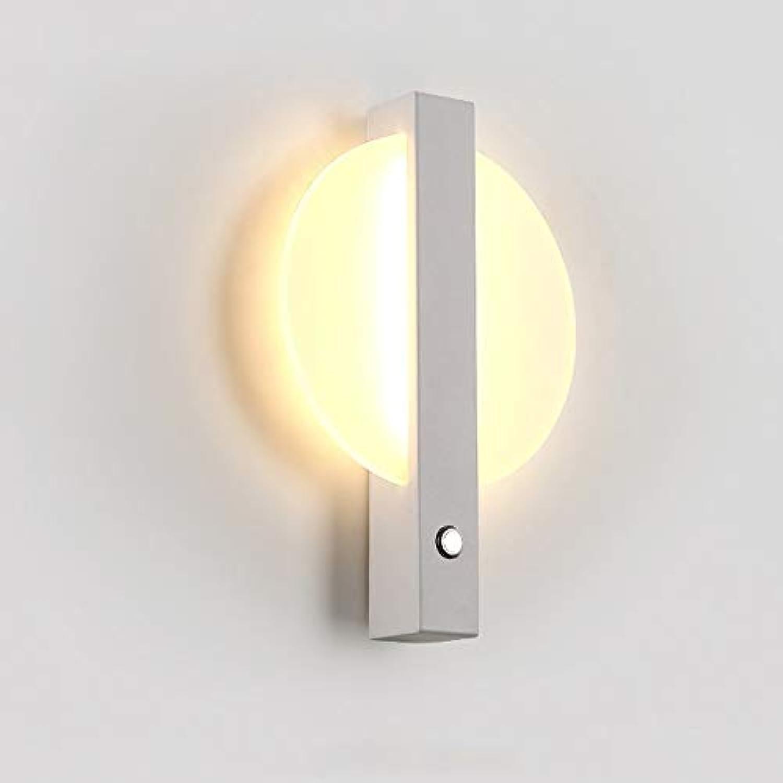 HJGYT LED Wandleuchten nordisch kreativ Wandleuchten postmodern Persnlichkeit einfach Wohnzimmer Esszimmer Schlafzimmer Nachttischlampen (Farbe   Weiß)