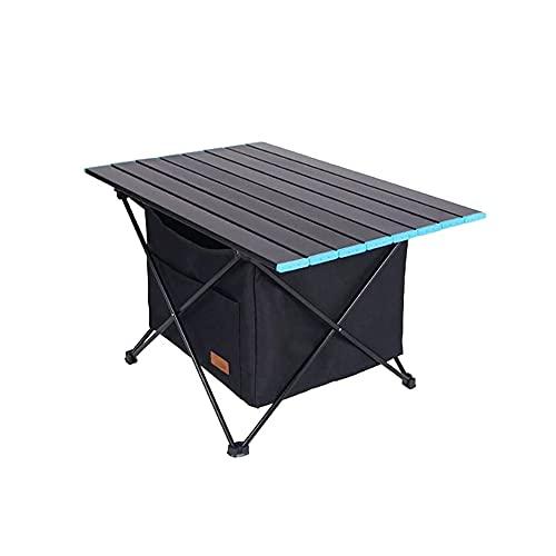 DOLS Mesa de Camping portátil, Mesa Plegable de aleación de aleación de Aluminio Plegable con Bolsa de Almacenamiento para al Aire Libre, Camping, Picnic, Barbacoa