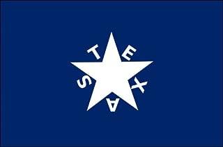 American Vinyl De Zavala Flag Sticker (Bonnie Historic Historic Star Blue Texas)