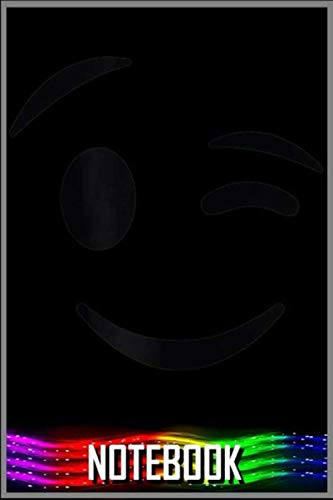 Notebook: Halloween Emoji Costume Winking Face Wink Face Emoticon Gift T-Shirt - 100 pages 6x9 inch by Tocden GOmun