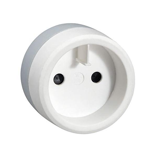 Legrand-LEG50386-Adaptateur-Prise-Europe-pour-socle-US-2P-6A-1380W-230V-Blanc-GrisPlastique-050386