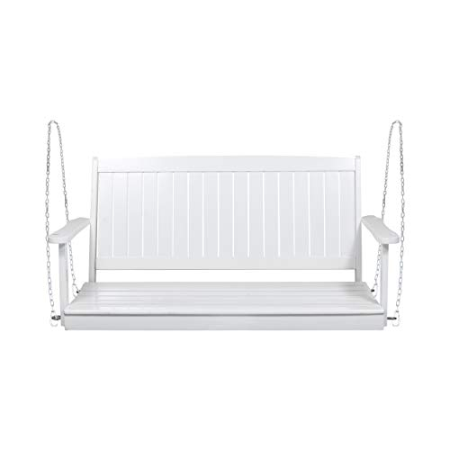 Christopher Knight Home 313042 Phoebe Outdoor Acacia Wood Porch Swing, White