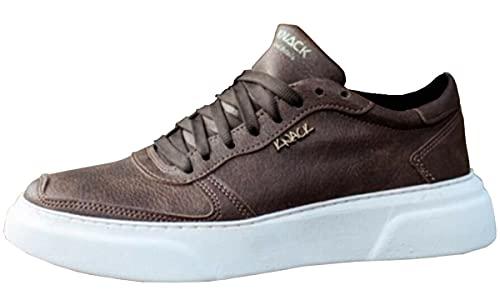 Knack 222 - Zapatos para hombre, estilo casual, para uso diario, ligeros, transpirables, para caminar, Brown, 41 1/3 EU