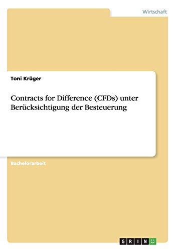 Contracts for Difference (CFDs) unter Berücksichtigung der Besteuerung