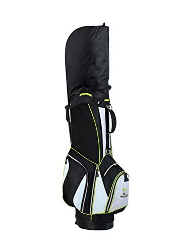 CHENG BAG Sac à Dos de Golf, Multifonction Mode Grande Capacité Nylon Imperméable 2,3 Kg Ultra-léger Base Stable Sac à Main Portable (Couleur : Vert)