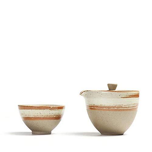 DONG Tetera de cerámica Tetera Gaiwan Taza de té para Tetera Puer Juego de té japonés portátil Drinkware, 1 Olla 1 Taza