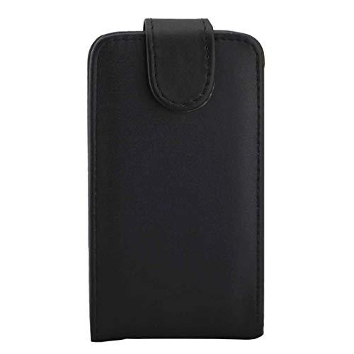 YANTAIANJANE Estuches de Cuero de teléfono For Samsung Galaxy J1 Mini / J105 Textura Lisa Vertical Funda de Cuero con Hebilla magnética (Color : Black)
