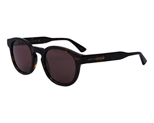 Gucci Gafas de Sol GG0825S Dark Havana/Brown 49/23/145 hombre