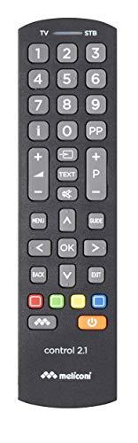Meliconi Control 2.1 Telecomando Universale 2 In 1, per Smart TV e Decoder