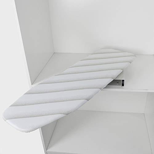 uyoyous Klappbar Bügelbretter, Faltbares Ausziehbare Bügelbrett Drehbar Bügelbrett für Schublade Garderobe L950mm x B300mm x H90mm