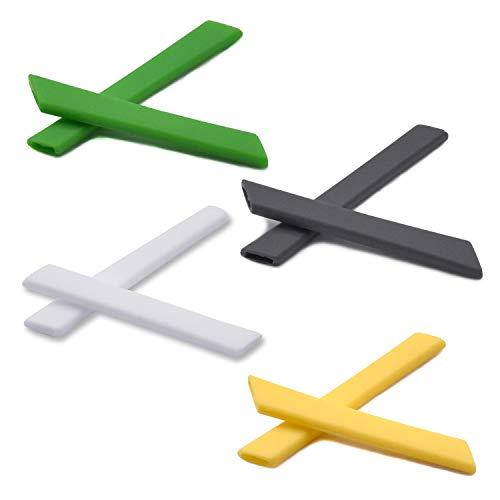 SOODASE Grün/Grau/Weiß/Gelb Ersatz Silikon Rahmenbein Gummi-Kit Für Oakley Jawbone Vented Sonnenbrille