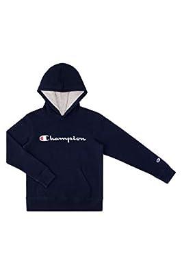 Champion Kids Clothes Sweatshirts Youth Heritage Fleece Pull On Hoody Sweatshirt with Hood (Large, Navy)