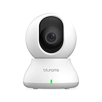 Security Camera 2K blurams Baby Monitor Dog Camera 360-degree for Home Security w/ Smart Motion Tracking Phone App IR Night Vision Siren Works with Alexa & Google Assistant & IFTTT 2-Way Audio