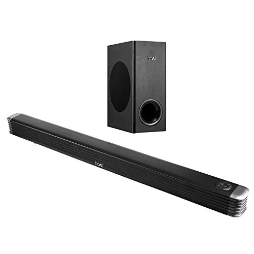 boAt AAVANTE Bar 1800 120W 2.1 Channel Bluetooth Soundbar with Boat Signature Sound, Wireless Subwoofer, Multiple Connectivity Modes, Entertainment Modes, Bluetooth V5.0(Premium Black)