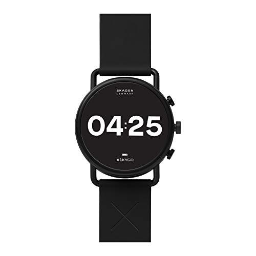SKAGEN Falster 3 X by KYGO-Smartwatch con Pantalla táctil con Correa de Silicona Negra para hombre-SKT5202