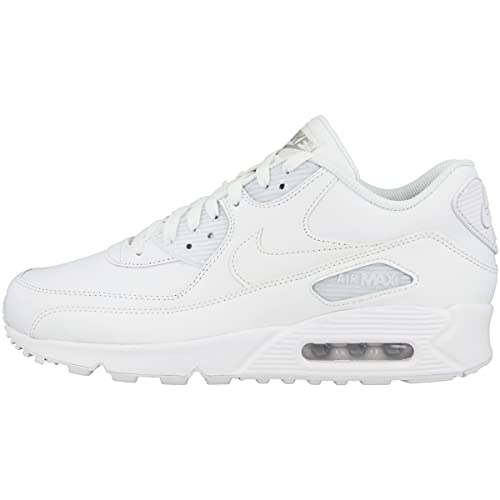 Nike Herren AIR MAX 90 LEATHER Low-Top, Weiß (White/White), 47.5