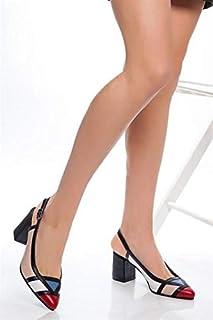 TARÇIN Hakiki Deri Klasik Günlük Kadın Topuklu Ayakkabı TRC71-0075