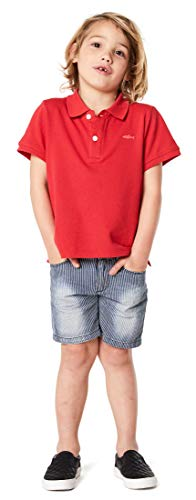 Noppies Noppies Jungen B Polo ss Rowlett Poloshirt, Rot (Bright Red P020), 110