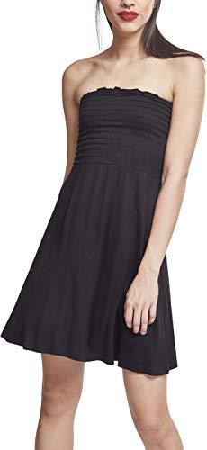 Urban Classics Damen Ladies Smoke Bandeau Dress Kleid, Schwarz (Black 00007), XXXX-Large