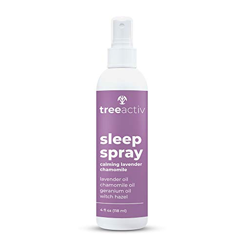 TreeActiv Sleep Spray, Calming Lavender Chamomile | Soothing Essential Oil Freshener for Pillow, Blanket, Bedding, & Sheets | Witch Hazel Aromatherapy Mist for Relaxation & Meditation | 1000+ Sprays