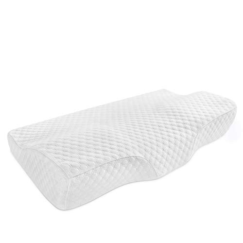 Coisum Cervical Pillow for Neck and Shoulder Pain Adjustable Memory Foam Neck Support Pillow for Side and Back Sleeper - Orthopedic Contour Pillow Ergonomic Bed Pillow with Extra Foam Layer