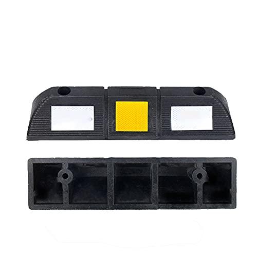 ZTIAN Vägsida parkeringsgarage golvplugg 55 x 12 x 9 cm ultrabred slitstark gummiparkeringsplugg, används för fordon lastbilsbanor, skydda pumplastbilar från bilar, lastbilar, lastbilar svart