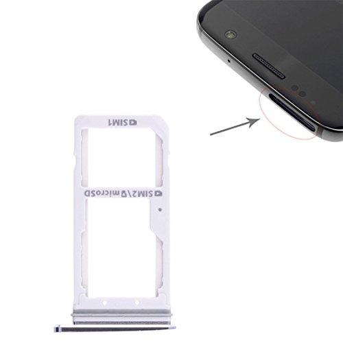 wortek SIM + Micro SD Karten Halter Schwarz für Samsung Galaxy S7 Dual Adapter Tray Slot