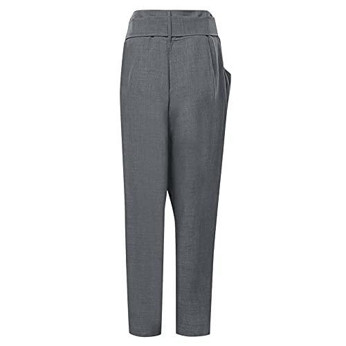 N\P - Pantaloni da donna in tinta unita con elastico in vita dritto, jeans skinny da donna Push Calça Jeans B XL