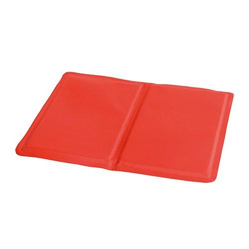 Preiswert&Gut Kühlmatte bei Migräne Kühldecke Hitzewallungen Kühlkissen selbstkühlend 40x30cm Sitzkissen Kühlmatte Farbwahl (Rot)