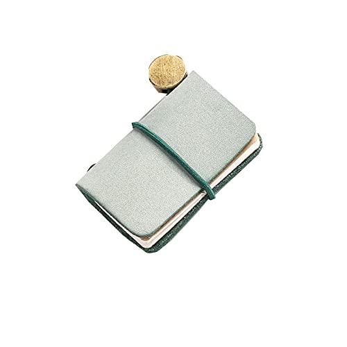 FACHAI Bloc de notas A7 con cubierta para planificación diaria, cuaderno de notas, cuaderno semanal, cuaderno 4,8 x 3,2 cm, color verde