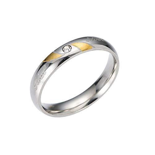 ERDING mode/goedkoop/geschenk/2019 echte schattige ringen ring paar trouwringen roestvrij staal mannen beloven hart vorm Womens voor hem en haar banden