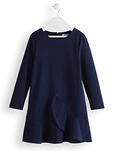 Amazon-Marke: RED WAGON Mädchen Kleid Ruffle, Blau (Blue), 104, Label:4 Years