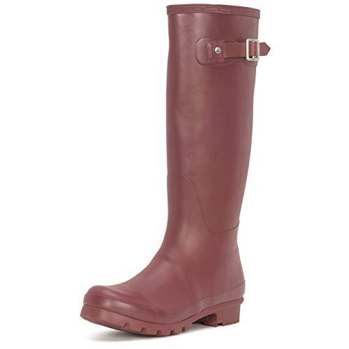 Womens Original Tall Snow Winter Waterproof Rain Wellies Wellington Boots - 9 - BUR40 BL0033