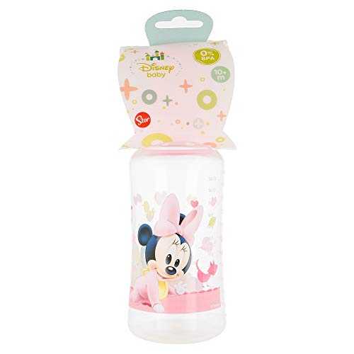 BIBERON CUELLO ANCHO 360 ML | TETINA SILICONA 3 POSICIONES MINNIE MOUSE - DISNEY - BABY PAINT POT
