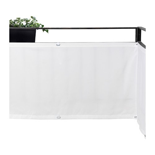 IKEA DYNING Wind- / Sonnenschirm, Weiß, 250 x 80 cm