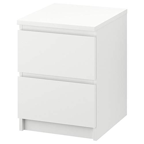 Ikea MALM–Kommode mit 2Schubladen, Weiß–40x 55cm
