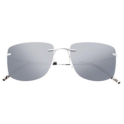 Breed Herren Sonnenbrille, BSG041SL, Silber, BSG041SL