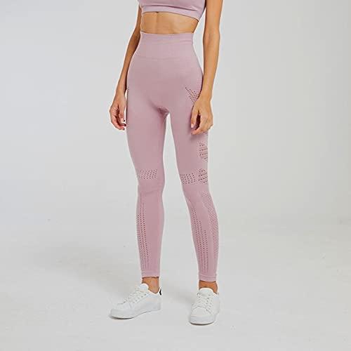 CYMTZ Women Seamless Leggings Tummy Control Yoga Pants Women Gym Tight Fitness Legging Push Up Sport Trousers Running Pant S Pink