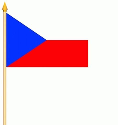 Fahne Stockflagge 2 x Tschechien Czech Flag Fanfahne 30 x 45 cm Flagge Stockfahne Flaggen Fahnen
