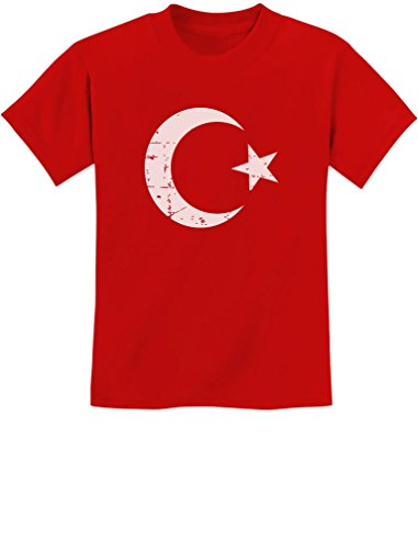 TeeStars - Vintage Turkey Flag Retro Style Turkish Youth Kids T-Shirt X-Small Red