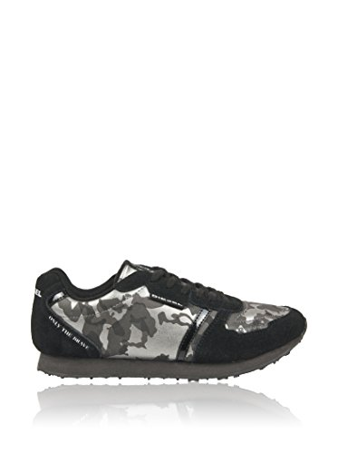 DIESEL Zapatillas Camuflaje Negro/Plata EU 38