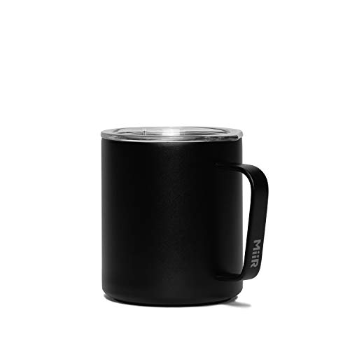 MiiR, Insulated Camp Cup for Coffee or Tea in the Office or Camping, Black, 12 Oz