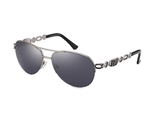 FUMKEN Pilotenbrille Damen Sonnenbrille Herren Polarisierte Sonnenbrille Damen Verspiegelt Farbvariation Unisex CAT 3 CE