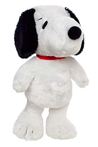 Grupo Moya - 529/02 - Peluche Peloso Snoopy en Piedi Originale Peanuts - Bianco Nero - 45cm
