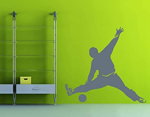 universumsum Wandtattoo Handball Torwartparade dunkelgrau 60 x 57 cm wal231-60-073 Wandaufkleber Wandsticker Wandtattoo Kinderzimmer selbstklebend