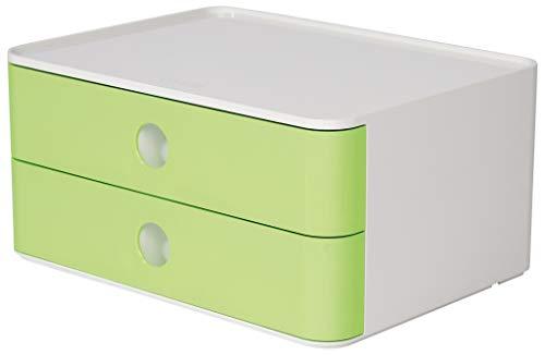 HAN 1120-80 SMART-BOX ALLISON, Cassettiera Impilabile Con 2 Cassetti, Lime Green