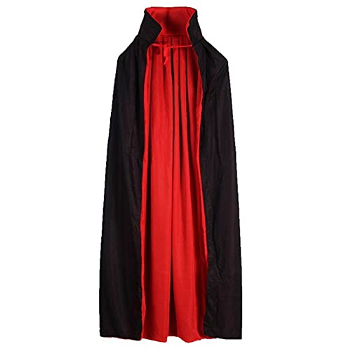 XILIN-1987 Capa Halloween para Adultos Capas de Manto Vampire Capas de Collar de pie Reversible para Disfraces de Halloween Cosplay Capa Infantil Halloween (Color : A, Size : L)