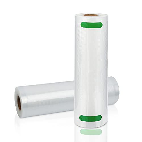EINFEBEN Rollos de vacío profesionales, 2 rollos de 20 x 600 cm + 5 bolsas herméticas al vacío, reutilizables, sin BPA, para todos los selladores al vacío, para cocción al vacío, a prueba de pinchazos